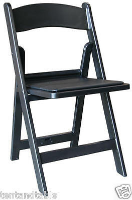 Chairs Folding Black 8 Resin Wedding Reception Church New Years Party Chair