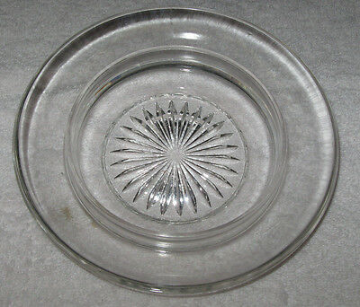 Vintage Small Cut Glass Dish - Diameter of Plate is 7 1/4
