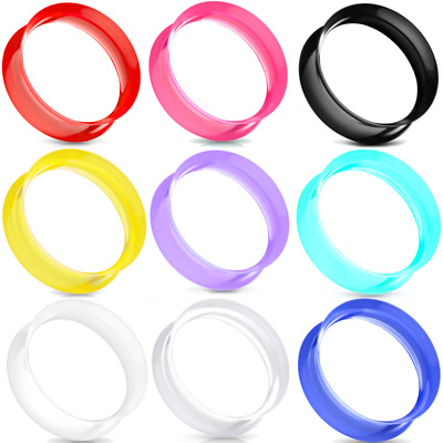 ALL 9 PAIRS-18 PIECES-ULTRA THIN SOFT Silicone-Ear Gauges- Ear plugs-Ear Tunnels