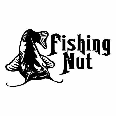 Fishing Nut Vinyl Decal Sticker for boat car truck REMOVABLE