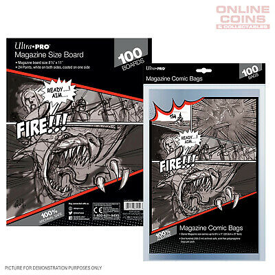 BUNDLE! Ultra Pro Comic Series - MAGAZINE Size Comic Bags & Backing Boards x 100