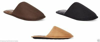 John Ashford Faux Suede Slippers Scuffs ~ Pick Your Color and Size ~ New In Box