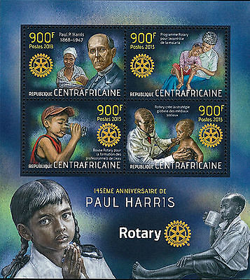CAR 2013 Stamp, CA13114A 145 ANN of Paul Harris, Rotary, Famous People