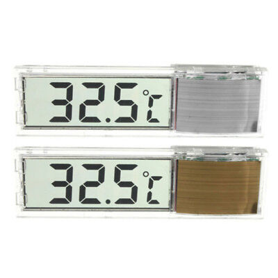 Crystal  LCD 3D Digital Electronic Aquarium Thermometer Fish Tank Reptile
