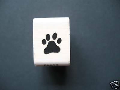 FUNSTAMPS  Rubber Stamp MINI PAW PRINT  **New**  -   UK SELLER