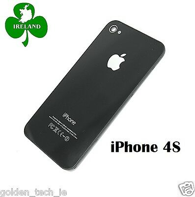 For iPhone 4S Back/Battery Cover Glass Plate Housing Replacement Black New