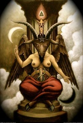 Baphomet Fabric Art Cloth Poster 20inch x 13inch Decor 01