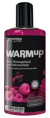 Olio per massaggio erotico al lampone Warm-up Sensual Massage Oil 150 ml
