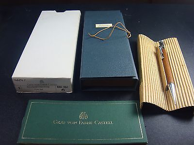 """Old Style"" Graf von Faber Castell Silver-Plated trim Wood Pencil 0.7mm"