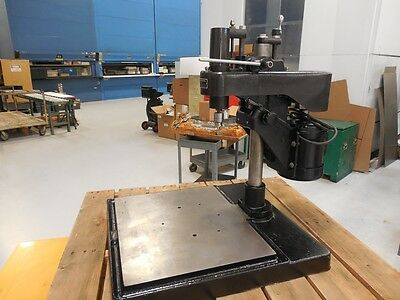 "Precision Drill Machine Co. 8 1/2 "" Variable Speed Drill Press"