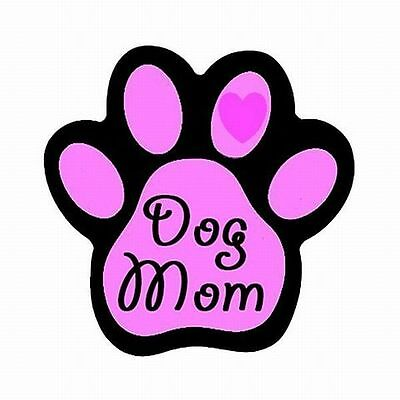 Dog Mom Paw Shaped Pink Flexible Car Magnet New! High Quality!
