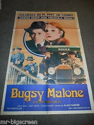 Bugsy Malone - Orginal Argentina Poster - 1976 - Jodie Foster