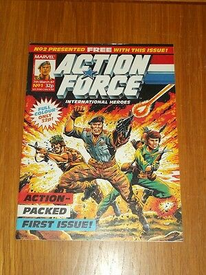 Action Force #1 March 7Th 1987 British Weekly Comic High Grade