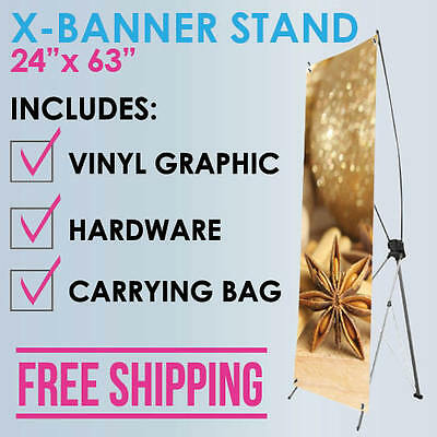 """X-Banner Stand 24""""x63"""""""