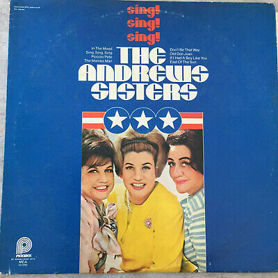 THE ANDREWS SISTERS: Sing ! Sing ! Sing ! (US Pickwick SPC-3382 E.e.f. Stereo)