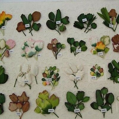 10/50/100 Mixed Mulberry Paper Leaves W:4Mm - 6.5 Approx (Lots To Choose From)