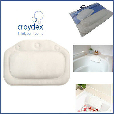 Quality Bath Pillow Comfy Bathing Tub Croydex Head Rest Foam Design Neck Cushion