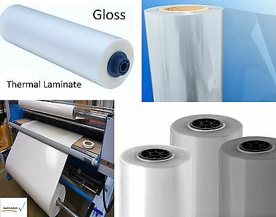"""3mil Gloss Clear Thermal Heat Activated Laminate Polyester Film Roll 51"""" x 250ft"""
