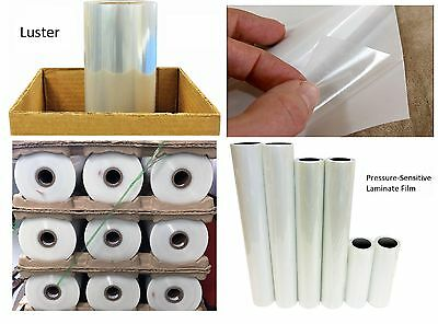 """3mil Luster Laminate Clear Self-Adhesive Cold UV Vinyl Film Roll 38"""" x 150'"""
