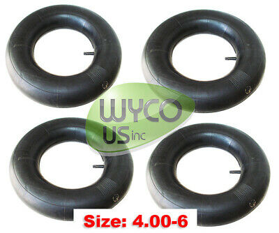 Four Inner Tubes 4.10/3.50-6, 4.10X3.50-6, 4.10-6, Tr13, Scrubbers, Snowthrowers