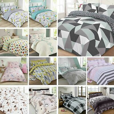Polycotton Duvet Cover With Pillow Case Bedding Set Single Double King Superking