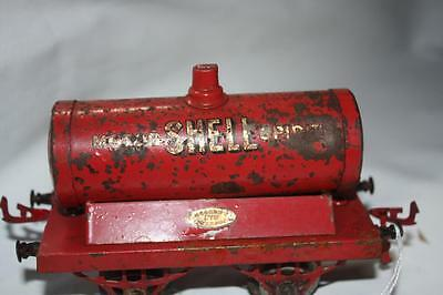 meccano old tanker wagon has lot marks fair [ k31107]