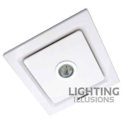 Martec Tetra White Bathroom Exhaust Fan With 5W Led Light Mxflt25W