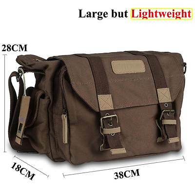Canvas DSLR Large Camera Shoulder Messenger Case Bag for Canon Nikon Sony Pentax