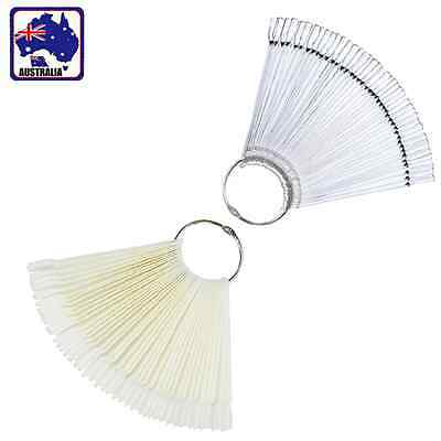 50pcs Nail Display Fan Swatches Practice Stick Polish Sector Board JNAIL 65