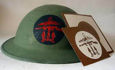 British Combined Operations Helmet Stencil WW2 Template Decal Commando WWII