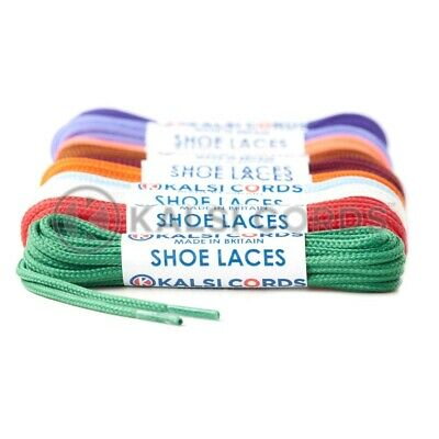 2mm ROUND THIN SHOELACES TRAINER & BOOT SHOE LACE- 3 LENGTHS - 9 COLOURS