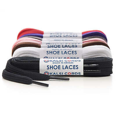 8mm FLAT STRONG SHOELACES SPORTS TRAINER & BOOT SHOE LACES 9 COLOURS