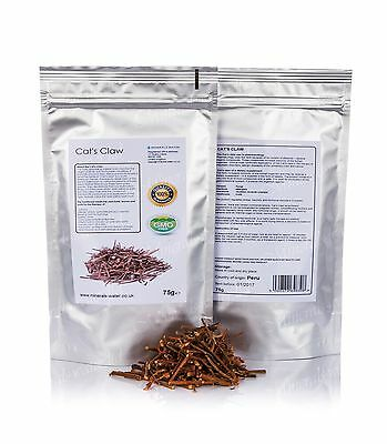 75g Cats Claw•Bark Tea•Immune System Support•Herbal Tea•Dry Herb