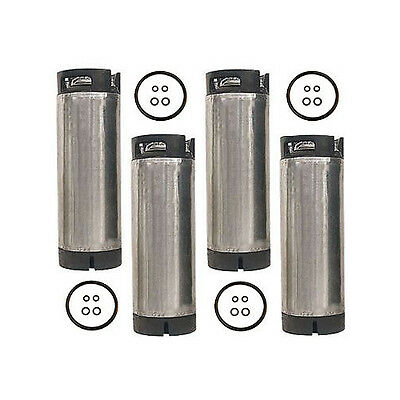 5 Gallon Ball Lock Home Brew Beer Keg - Reconditioned Pepsi Soda Keg - Set of 4