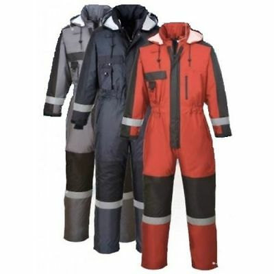 Waterproof Overall Padded Coverall Winter Boilersuit  Hood Outdoors S585 Size
