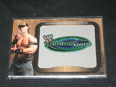 Wwe Summer Slam Commemorative Patch Topps Genuine Certified Authentic Card Rare