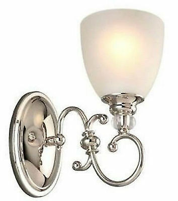 Hampton Bay 791197 Lucerne 1 Light Frosted Glass Wall Sconce - Open Package