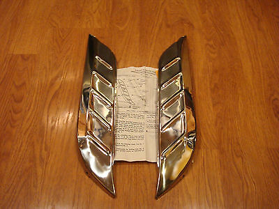 1956 CHEVY FRONT FENDER GRAVEL GUARDS STONE SHIELDS  Pair