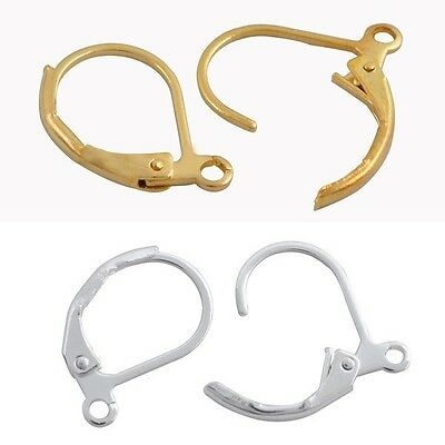 50 Pcs French Earring Lobster Clasps Hooks Findings DIY Jewelry 11x16mm