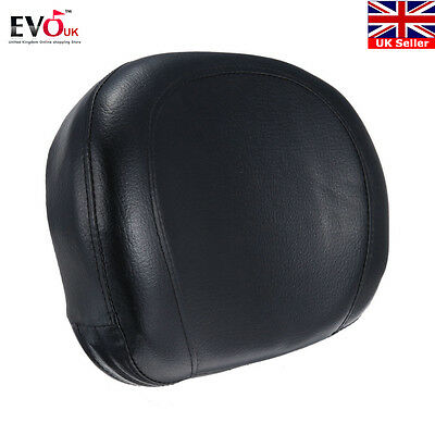 Motorcycle Backrest Cushion Pad For Harley Choppers Touring Cruiser Custom Bike