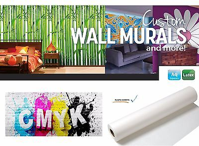 """Inkjet Latex Self-Adhesive White Fabric Wall Removable Film Roll 24"""" x 100'"""