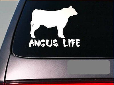 Angus Life *E240* sticker decal cattle black texas beef hamburger stock yard