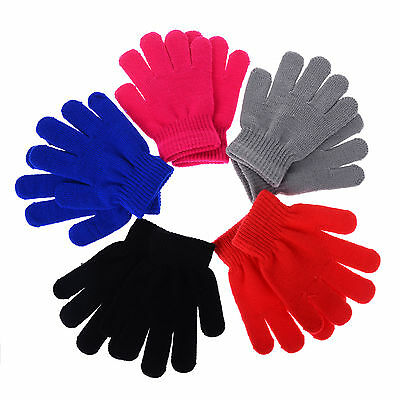 Children Magic Gloves & Mittens Girl Boy Kid Stretchy Knitted Winter Warm New
