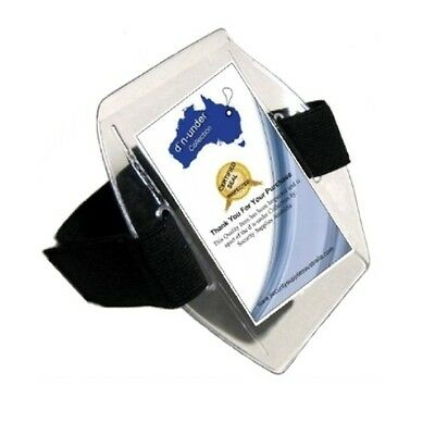3 x Black ID Arm Band ID Holders - NEW