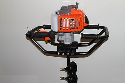 """Brand New KASEI 2.3HP 50cc Earth Auger 1 Man Gas Post Digger EPA w 8"""" ice bits"""