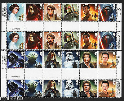 2015 STAR WARS - GUTTER PAIRS SET - Mint SG 3758 - 3769