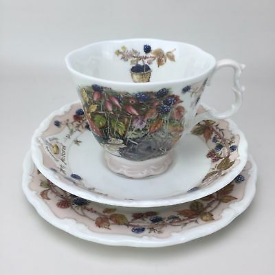 Brambly Hedge Autumn Royal Doulton Coffee Tea Cup Saucer Bread Butter Plate Set
