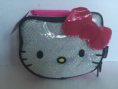 Nwt Sanrio Hello Kitty Sparkly Sequin Soft Insulated Lunch Box/bag Pink Cute!