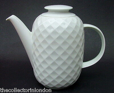 Thomas Holiday White Pattern 2pt Coffee Pot & Lid 17.5cmh Looks in Unused Cond