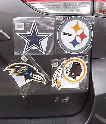 "NFL Steelers Ravens Redskins Cowboys 6""inch Magnet Sports Fan Gift ***YOU CHOOSE"